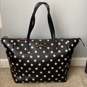 Kate spade bag with polka dots